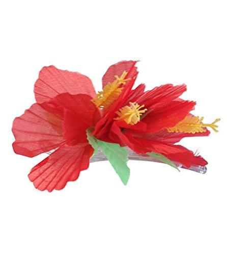 Generique - Barrette Fleur Rouge Hawaï