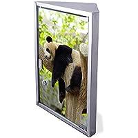 Edelstahl Medizinschrank Eckschrank abschließbar 30x17,5x45cm Badschrank Hausapotheke Arzneischrank Bad Panda preisvergleich bei billige-tabletten.eu