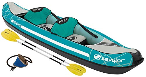 Sevylor 2000026860 2personas(s) Verde, Gris Kayak Inflable Kayak Deportivo - Kayaks Deportivos (Kayak Inflable, 2 Personas(s), 200 kg, Verde, Gris, 2 Asiento(s), 930 mm)