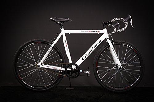 "28"" Zoll Alu Rennrad Single Speed GIORDANO Race Bike Fixi Fahrrad Rh 56cm weiss Test"