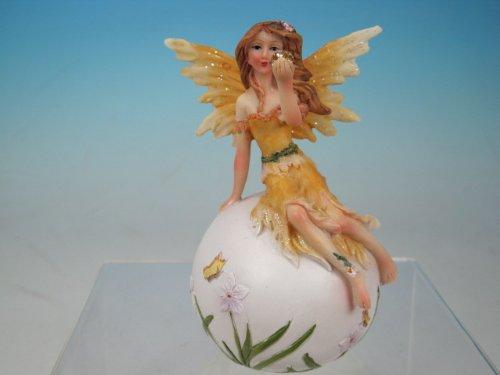 Fée Tenant Doré Boule de Cristal : Fleur d'Oranger