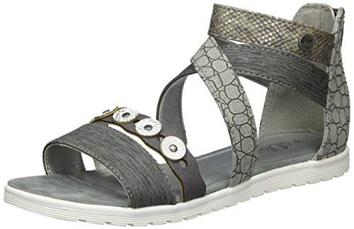 s.Oliver Mädchen 58217 Offene Sandalen mit Keilabsatz, Grau (Grey 200), 36 EU