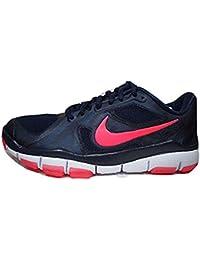 Nike - Zapatillas de béisbol de Piel para hombre Negro negro-blanco