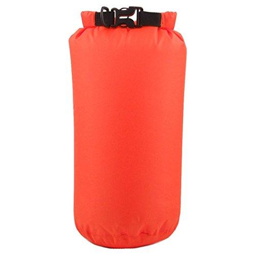 Kompressions Packsack - LUCKSTONE 15L Wasserdicht Trocken Sack Lightweight Kompression Tasche fuer Kanu Bootfahren Kajak Rafting (Orange)
