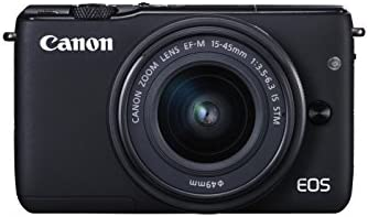 Canon EOS M10 Camera with EF-M 15 - 45 mm f/3.5-6.3 IS STM Lens - Black