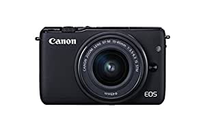 Canon EOS M10 DSLR Camera with EF-M 15-45 mm f/3.5-6.3 IS STM Lens - Black