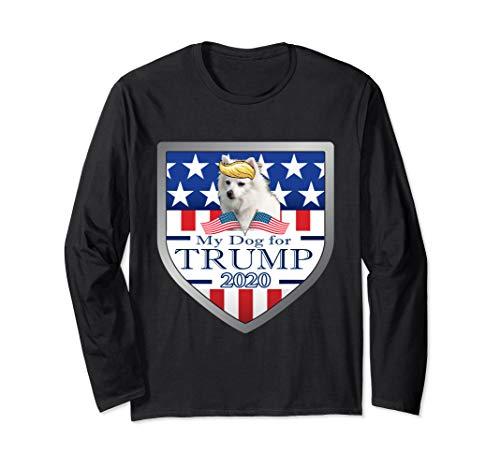 My American Eskimo For Trump Langarmshirt -
