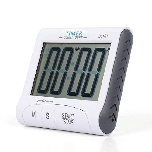 Ultrey LCD Digitaler elektronische Timer, Kochtimer Wecker mit großem Bildschirm und Stopp-Uhr-Funktion, versenkbarer Ständer
