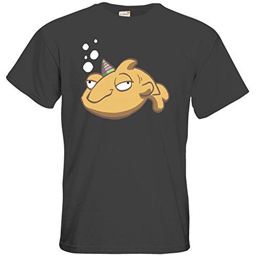 getshirts - Daedalic Official Merchandise - T-Shirt - Deponia Fisch Dark Grey