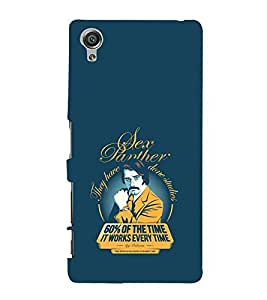 Fiobs Designer Back Case Cover for Sony Xperia X :: Sony Xperia X Dual F5122 (Sex Panther Cool Blue)