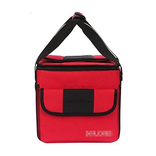 Outdoor Originalità Impermeabile Facile Da Pulire Quadrato Borsa Per Il Picnic Borsa Termica ,Red02 Red02