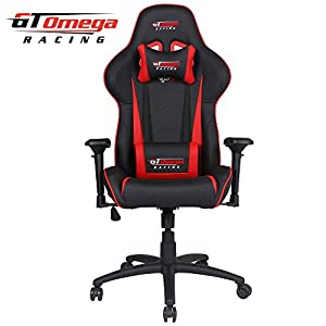 41w5gEnkknL. SS300  - GT OMEGA PRO Racing Gaming Chair with Lumbar Support - Ergonomic PVC Leather Office Chair with 4D Adjustable Armrest & Recliner - Esport Seat for Ultimate Gaming Experience (Black Next Red)