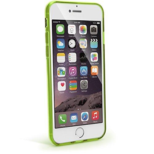 igadgitz Solides Schwarz Glänzend Etui Tasche Hülle Gel TPU für Apple iPhone 7 & 8 4.7 Zoll Case Cover + DisplayschutzDolie Transparent Grün
