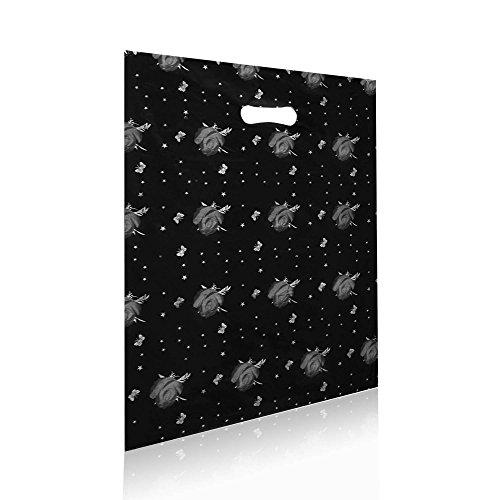 tumundo-tote-bag-sacchetti-regalo-compleanno-con-foro-maniglia-plastica-motivo-fiore-nero-farfalla-g