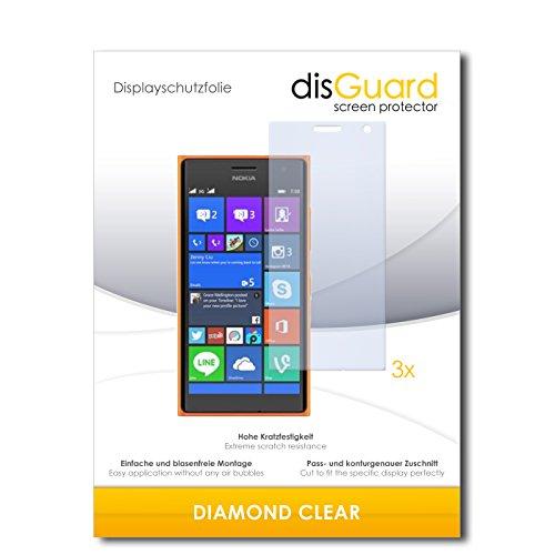 3 x disGuard® Schutzfolie Nokia Lumia 730 Dual Sim Bildschirmschutz Folie