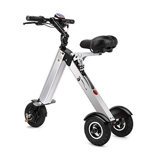 TopMate ES31 Scooter eléctrico Mini Triciclo plegable Peso 14KG con 3 Límites de velocidad 6-12-20KM / H y 3 Amortiguadores...