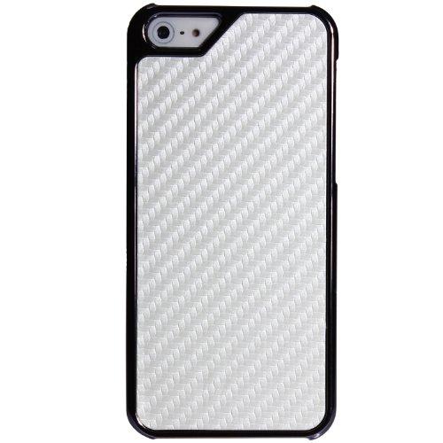 wortek Schutzhülle Apple iPhone 5 / 5S Hardcase Weiß Weiß