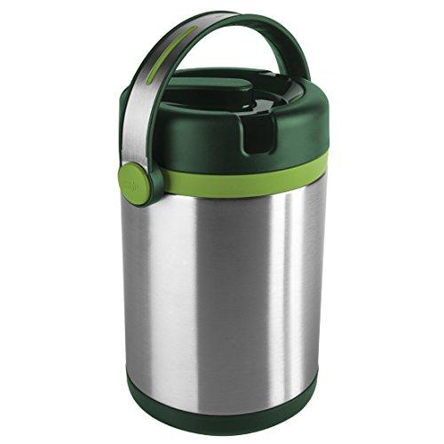 emsa eiswuerfelbehaelter Emsa 512967 Isolier-Speisegefäß, Mobil genießen, 1.7 Liter, Mit 2 Speiseeinsätzen, 100% dicht, Grün/Hellgrün, Mobility