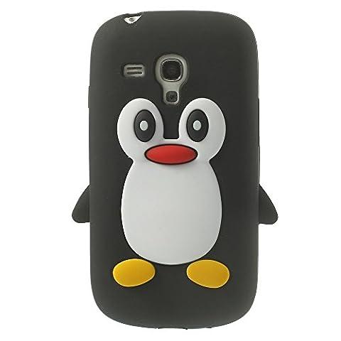 Samsung Galaxy S3 Mini Soft Silikon Case Pinguin Cute 3D