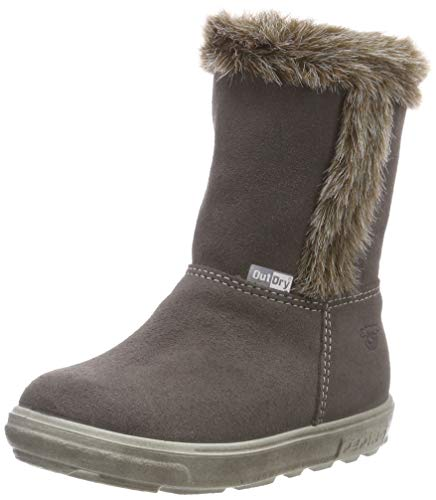 RICOSTA Mädchen USKY Hohe Sneaker, Grau (Meteor 461), 23 EU
