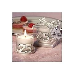 Idea Regalo - Candela per festeggiare il 25anniversario di matrimonio Confezione da 15 pezzi