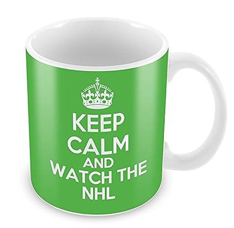 Vert KEEP CALM and Watch the NHL Mug Tasse à café cadeau idée cadeau de sport