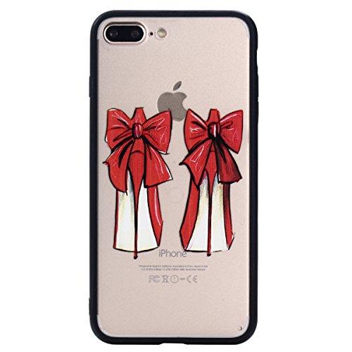 iPhone 7 Plus Hülle, Voguecase Silikon Schutzhülle / Case / Cover / Hülle / TPU Gel Skin für Apple iPhone 7 Plus 5.5(Schmetterling liebt Blumen 07) + Gratis Universal Eingabestift Rot Schuhe mit hohen Absätzen 03