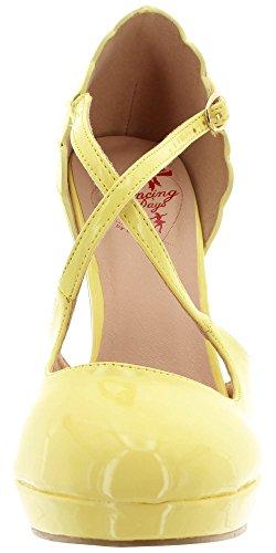Zapatos De Tacón Amarillo Dancing Days Para Mujer