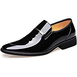 Hombres Oxfords Hombres Zapatos de Cuero Zapatos de Moda para Hombres de Negocios Zapatos en Punta Zapatos de Vestir para Hombres