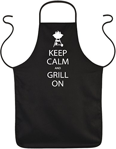Blouses-keep calm and grill witzigem on-tablier avec inscription en allemand