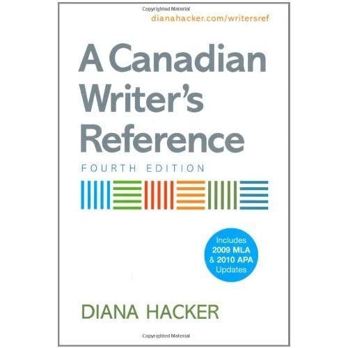 A Canadian Writer's Reference by Diana Hacker (May 19,2010)