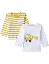 c84603d1d2c Mothercare Baby Boys  Animal Print Regular Fit T-Shirt (Pack of 2)