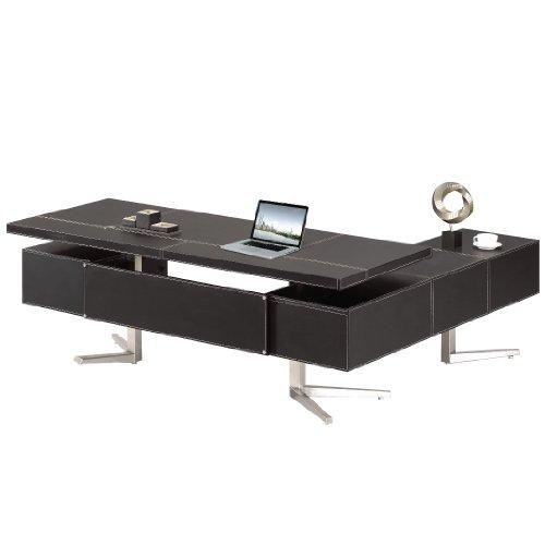 Chef Schreibtisch Büromöbel Buero Büroausstattung Leder Schreibtisch Bari links von Jet-Line (Chef Büromöbel)