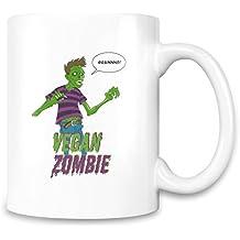 Vegan Zombie Grains Custom Printed Coffee Mug - 11 Oz - High Quality Ceramic Cup