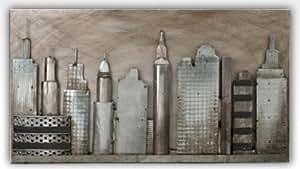 Silea 222/8350 Tableau Déco City Art Métal