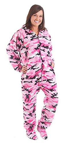 Forever Lazy Footted Einteiler für Erwachsene, Einteiler Pyjama Jumpsuits für Damen und Herren, Unisex - Mehrfarbig - Small -