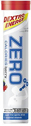 Dextro Energy ZERO Calories Berry / Zuckerfreies Fitness-Getränk in Brausetabletten-Form mit 5 Elektrolyten & ohne Kalorien für Kraft-, Leistungs- & Ausdauersportler / 12 x 20 Brause-Tabletten