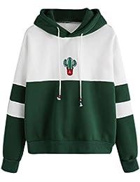 Sweatshirt Damen,Damen Langarm-Kaktus-Druck Hoodie Sweatshirt mit Kapuze Pullover Tops Bluse,❤️Binggong Damen... preisvergleich bei kinderzimmerdekopreise.eu