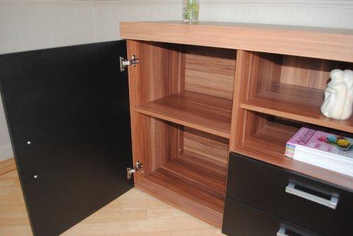 Black& Walnut Sydney Large Sideboard& TV Cabinet 140cm Unit Living Room Furniture Set u2013 Search