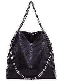 91/5000 Miss Lulu Classical Retro Design correa de cadena de cuero de imitación Hobo bolso hombro para mujer