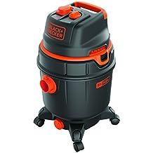 Black and Decker 51687 - Aspiradora (1600 W, con depósito 30 litros, con toma de corriente, función automática ON/OFF)