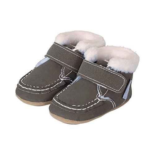 Sterntaler , Chaussures souple pour bébé (garçon) basalte
