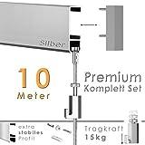 hang-it 10 Meter Premium Bilderschienen Galerieschienen - Komplett Set
