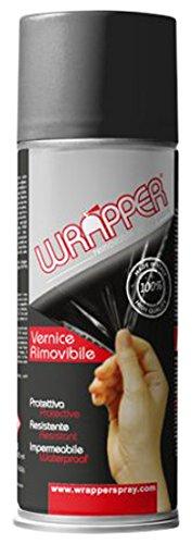 Quattroerre 16443 Wrapper Spray Vernici Rimovibili Tinta Camouflage, Grigio Scuro