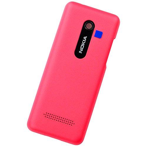 Nokia Asha 206 Dual Sim Original Akkudeckel Magenta Battery Cover Akkufachdeckel Rückschale Akku Deckel Batterie Klappe Hintere Abdeckung Gehäuse Back Door Lid Rear Housing (Door Back Cover Batterie)