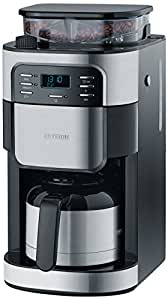 severin ka 4812 kaffeeautomat mit mahlwerk 1000 watt 1 liter edelstahl. Black Bedroom Furniture Sets. Home Design Ideas