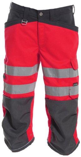 Tranemo 4090–45–97-c58taglia C58First grade ad alta visibilità, 3/4, lunghezza pantaloni–rosso/grigio