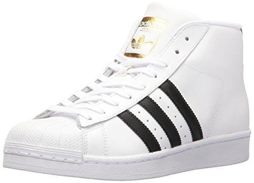 adidas Originals Women's Shoes | Pro Model Sneakers, White/Black/Metallic Gold, (11 M US)