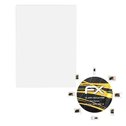 atFoliX Panzerfolie kompatibel mit Canon Digital IXUS 960 is Schutzfolie, entspiegelnde und stoßdämpfende FX Folie (3X) Canon Digital Ixus 960 Is