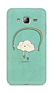 Amez designer printed 3d premium high quality back case cover for Samsung Galaxy J3 (2016 EDITION) (Cartoon with green)